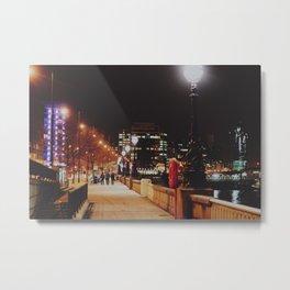 Night Stroll, London.  Metal Print