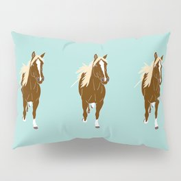 Quarter Horse Equestrian Illustrated Print Pillow Sham