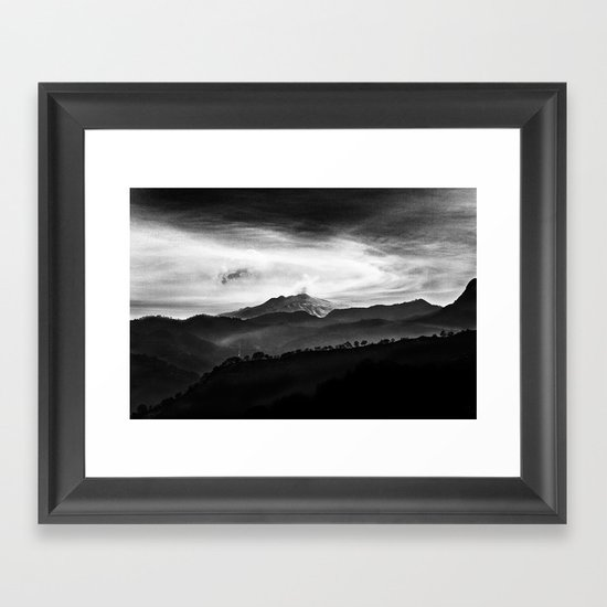 Hephaestos Valley Framed Art Print