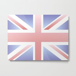 flag of Uk -with color gradient Metal Print