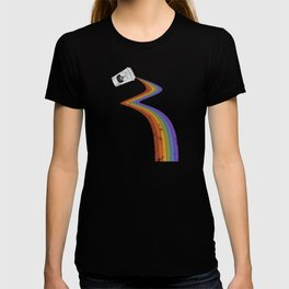 Coffee Cup Rainbow Pour // Abstract Barista Wall Hanging Artwork Graphic Design T-shirt