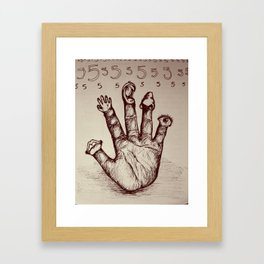 The Five Senses Framed Art Print