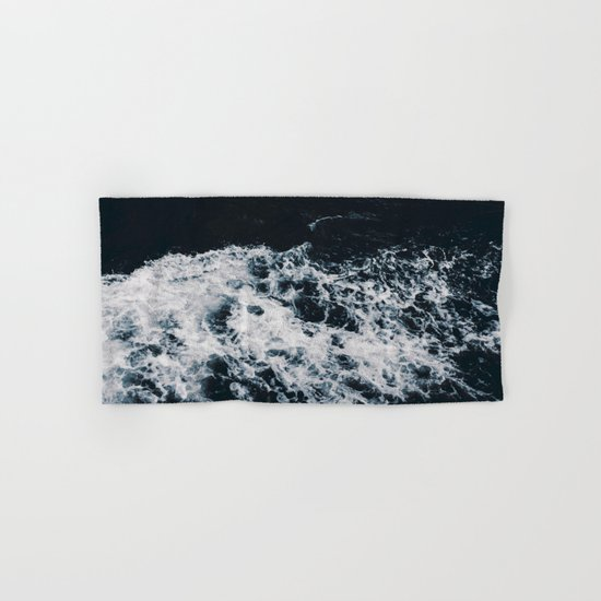 Waves #dark Hand & Bath Towel