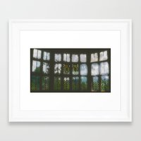 window Framed Art Prints featuring Window by Aaron Carberry