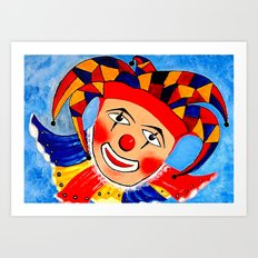Birthday Clown Art Print