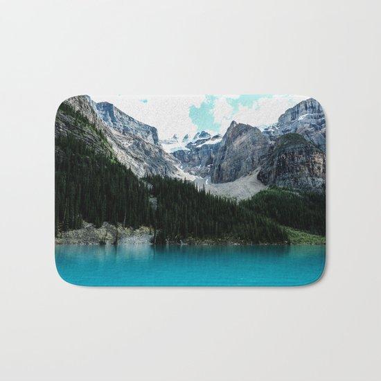 Moraine lake Wander (landscape) Bath Mat