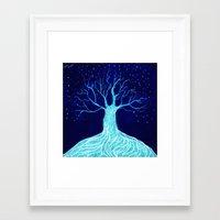 frozen Framed Art Prints featuring Frozen by Nancy Woland