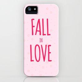Fall in Love iPhone Case