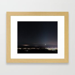 Arizona Desert Night Sky Stars Framed Art Print