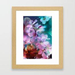 Double Flowers Framed Art Print
