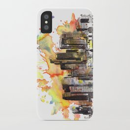 Los Angeles Cityscape Skyline Painting iPhone Case