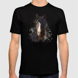 Black Brown Horse Artwork T-shirt