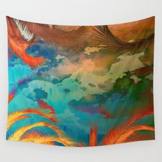 A place for lying down and look up / Botanic Wall Tapestry