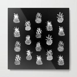 18 Pineapples Metal Print