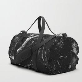 black labrador retriever dog wsbw Duffle Bag