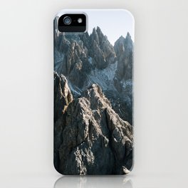 Mountain range in the Dolomites - Landscape Photography iPhone Case