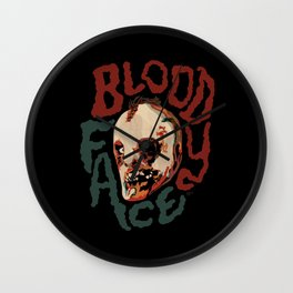 Bloody Face Wall Clock