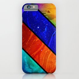 Space collage: marble space iPhone Case