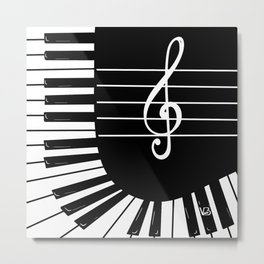 Piano Keys I Metal Print
