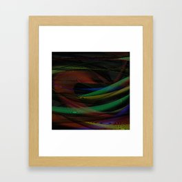 Lines and Illusion Framed Art Print