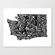 Typographic Washington Canvas Print