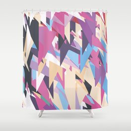Happy Triangles 2 Shower Curtain