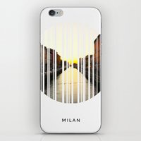 milan iPhone & iPod Skins featuring MILAN by Daniel Rey