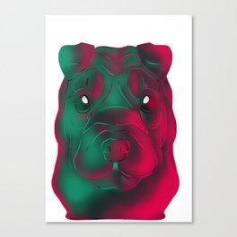 Techno Sharpei Canvas Print