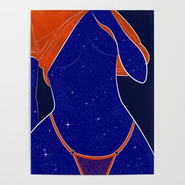 NEED SOME SPACE - Illustration, Space, Galaxy, Girl Poster