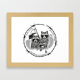J20 solidarity raccoons Framed Art Print