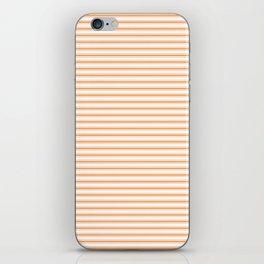 Bright Orange Russet Mattress Ticking Narrow Striped Pattern - Fall Fashion 2018 iPhone Skin