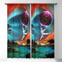 Dancing in the Northern Lights night Blackout Curtain