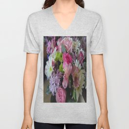 Mixed Flowers Unisex V-Neck