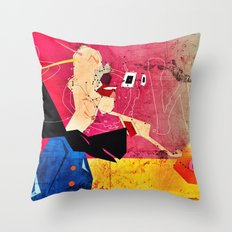 Exploding Soda Can X Throw Pillow