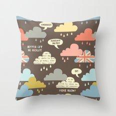 Rainy London Throw Pillow