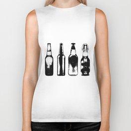 Vintage Beer Bottles Biker Tank