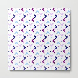 Optical pattern 133 blue and purple Metal Print