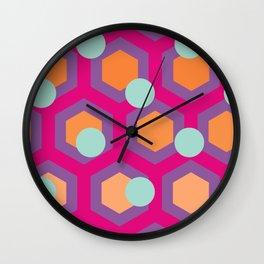 Honeycomb & Spots Wall Clock