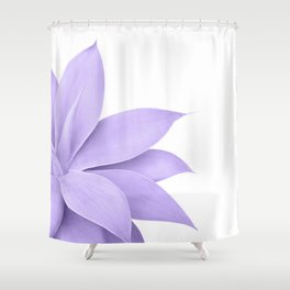 Agave Finesse #9 - Ultra Violet on White #tropical #decor #art #society6 Shower Curtain