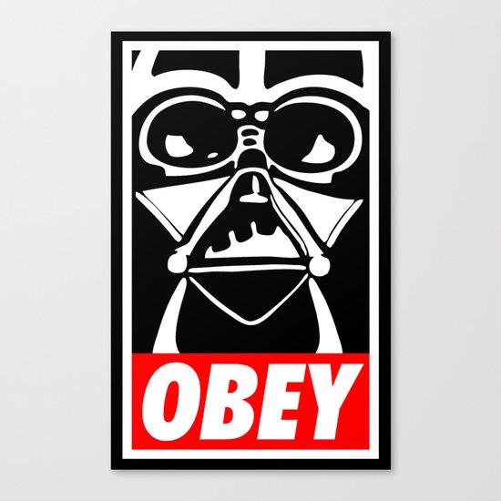Obey Darth Vader - Star Wars Canvas Print