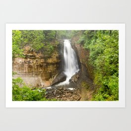 Miners Falls - Pictured Rocks Waterfall, Michigan Art Print