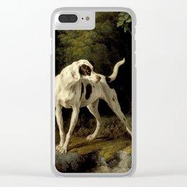Alexandre Francois Desportes - Landscape With A Dog And Partridges. Clear iPhone Case