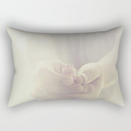 Tiny cat Rectangular Pillow
