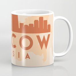 MOSCOW RUSSIA CITY MAP SKYLINE EARTH TONES Coffee Mug