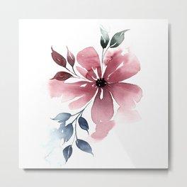 Modern Watercolor Florals No. 4 Metal Print