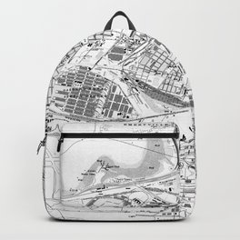 Vintage Map of Oakland California (1959) BW Backpack