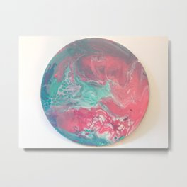 Cotton Candy Planet Metal Print