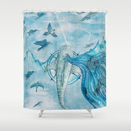 Where the horizon ends Shower Curtain