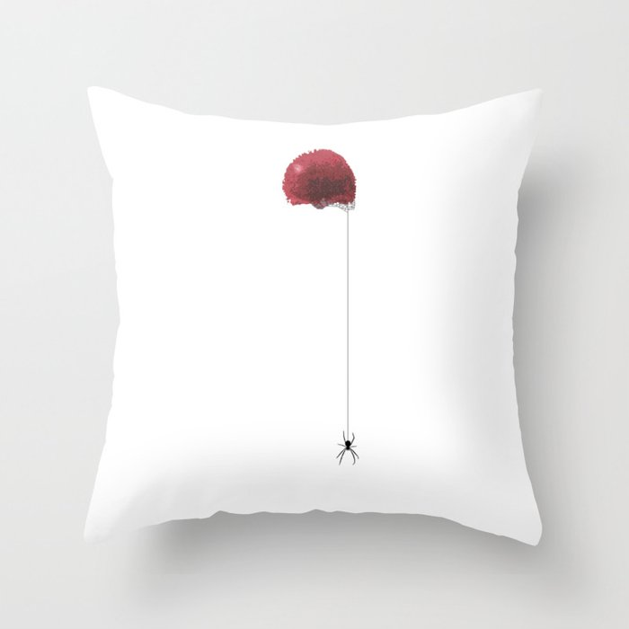 Pennywise Floats Down Here. Throw Pillow