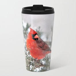 Winter's Beauty Cardinal Travel Mug